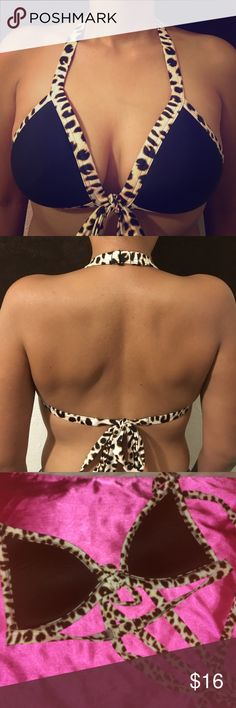 Animal Print VICTORIA SECRET Bikini top size M Super cute Animal print Victoria Secret push-up Bikini Top(TOP ONLY) this bikini is missing its tags has a partial tag that shows its VS. This top has padding PINK Victoria's Secret Swim Bikinis