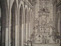 KUPFERSTICH DIE KIRCHE VON NÜRNBERG VON 1696 NACH GRAFF VON KRAUS 57x45cm