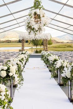 wedding tent the passage and the arch are decorated with greenery and white orchids under a transparent tent samuel lippke studios Wedding Ceremony Ideas, Wedding Reception Food, Outdoor Wedding Decorations, Tent Wedding, Wedding Stage, Indoor Wedding, Wedding Events, Rustic Wedding, Wedding Day