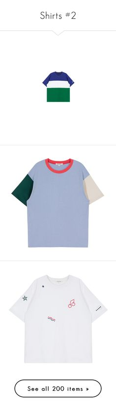 """""""Shirts #2"""" by ruwena-a-w ❤ liked on Polyvore featuring tops, t-shirts, bunny tee, round neck t shirt, pattern t shirt, mini t shirts, color block tee, short sleeve tops, short sleeve tee and block t shirt"""