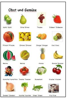 Obst und Gemüse German fruits & vegetables
