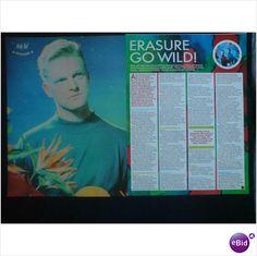 Erasure - Erasure Go Wild! 2 page feature (Smash Hits)