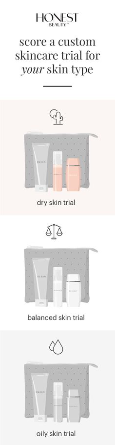 Hey gorgeous, what skin type are you? Get a free Honest Beauty trial targeted to your skin's needs (just $5.95 shipping). We've got you covered for a radiant, glowing look.
