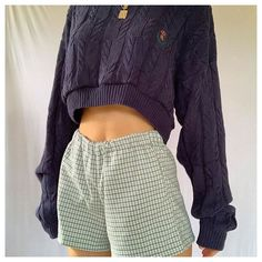 #cropped #pullover #croppedpullover Vintage Outfits, Retro Outfits, Trendy Outfits, Cool Outfits, Summer Outfits, Grunge Look, 90s Grunge, Moda Vintage, Style Vintage