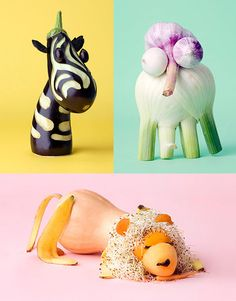 fruit and vegetable carving - egg plant zebra - veggies #vegetablecarving