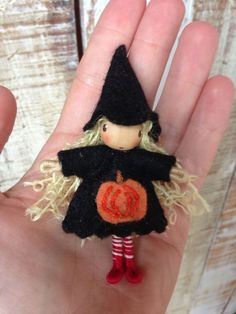 Waldorf Doll Bendy Doll Halloween Witch by ACuriousTwirl on Etsy