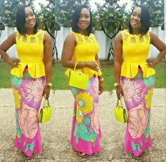 Check Stylish Ways to Rock Plain Top With Ankara Skirt Designs Ankara Styles For Women, Kente Styles, African Dresses For Women, African Fashion Dresses, African Women, Ankara Fashion, African Beauty, Women's Fashion, African Blouses