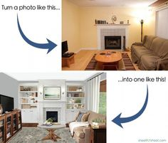 How To Create Room Makeover Photos With Photoshop (Presto Change-o Class) - The Lettered Cottage