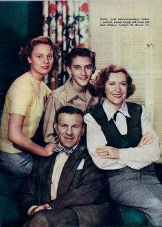 George Burns & Gracie Allen and   family, Radio Mirror June 1949