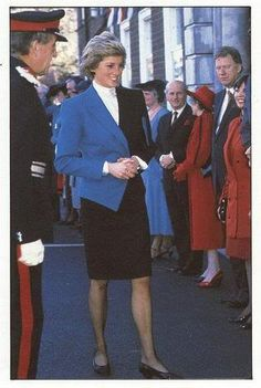 October 6, 1988: Princess Diana opens the new Day Care Centre of the Teesside Hospice Care Foundation in Middlesbrough, Cleveland/