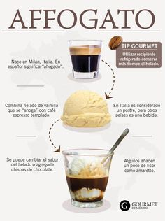 coffee barista Cmo preparar un affogato en casa - Gourmet de Mxico Cafe Menu, Menu Café, Coffee Drink Recipes, Coffee Drinks, Dessert Recipes, Oreo Desserts, Drinking Coffee, Chocolate Desserts, Chocolate Cake