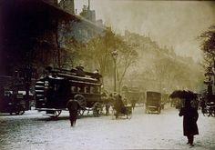 Paris under snow c1890
