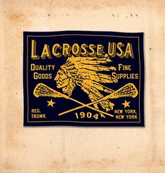 ROB HOWELL for LACROSSE USA Sportswear Woven Label