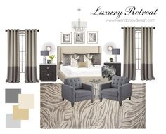 """Luxury Retreat"" by karendorseydesign on Polyvore featuring interior, interiors, interior design, home, home decor, interior decorating, Jaipur, Home Decorators Collection, GUNNAR and Pottery Barn"