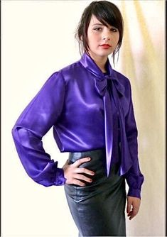Pias Satin World: Archive Satin Gown, Satin Skirt, Satin Dresses, Corset Dresses, Blouse And Skirt, Blouse Dress, Sexy Blouse, Pencil Skirt Black, Pencil Skirts