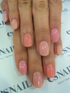 Pretty nude pinks and peachy tones