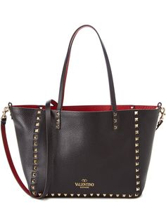882416be22ce Valentino Rockstud Small Reversible Leather Tote is on Rue. Shop it now.  Valentino Rockstud