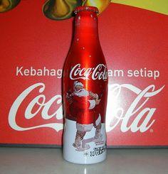Coca Cola de navidad de aluminio Botella Netherland 2009