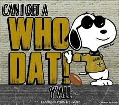 Who Dat! Snoopy peanut