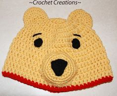 Amy's Crochet Creative Creations: Crochet Winnie the Pooh Child hat