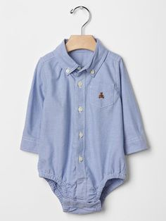 Oxford button-down bodysuit Product Image