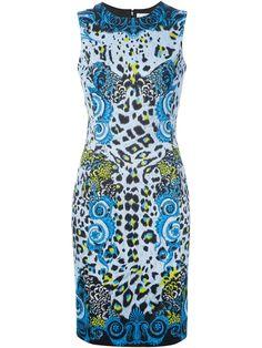 Versace Leopard Print Dress in Multicolor (multicolour)