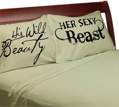 His Wild Beauty Her Sexy Beast Pillow Cases Couples Pillowcases Sexy For Him Her Boyfriend Girlfriend Husband Wife His Hers Beauty and Beast - PintoPin