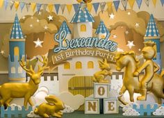 Party Backdrop from a Royal Prince Birthday Party via Kara's Party Ideas Mickey Mouse First Birthday, Baby Boy 1st Birthday, 1st Birthday Parties, Birthday Wishes, Prince Birthday Theme, Princess Birthday, Little Prince Party, Kids Party Decorations, Party Ideas