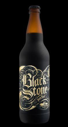 Hired Guns Creative - Blackstone Porter — World Packaging Design Society / 世界包裝設計社會 / Sociedad Mundial de Diseño de Empaques Gothic Lettering, Hand Lettering, Chocolate Malt, Dark Beer, Design Blog, Brand Design, Bottle Packaging, Black Letter, Poster