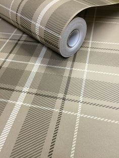 Fine Decor Caledonia Tartan Wallpaper - Taupe FD21226
