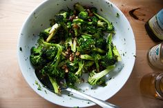 This is a great make-ahead salad. As it sits, the cheddar, dates, and almonds soak up the dressing, but the charred cauliflower stays firm all the while. Broccoli Stalk, Broccoli Dishes, Thursday, Wednesday, Charred Broccoli, Make Ahead Salads, Butternut Squash Soup, Dinner Salads, Vegetable Sides