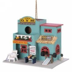 Workout Gym Birdhouse at the Shopping Mall, $35.06