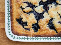 Texas-Style Blueberry Cobbler - Framed Cooks. Can also use 28 oz. of frozen berries - any variety - thawed. (From Cook's Country @ America's Test Kitchen)