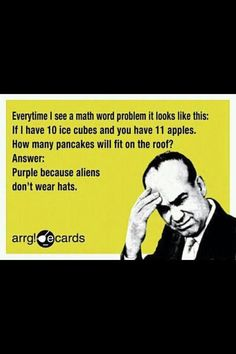 Oh word problems-- I well I remember you and still dislike you!!