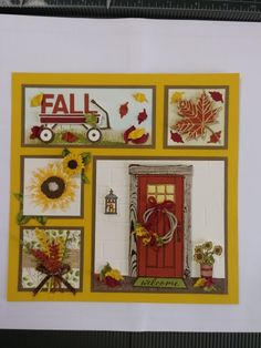 Scrapbooking Layouts, Scrapbook Cards, Collage Frames, Collages, Box Frame Art, Christmas Frames, Marianne Design, Thanksgiving Cards, Fall Cards
