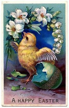 Canvas Art Print Easter Chick from Egg Werath Holidays Celebration | eBay