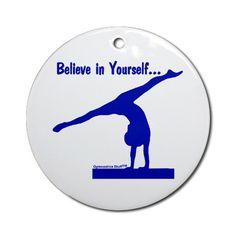 Gymnastics Ornament - Believe