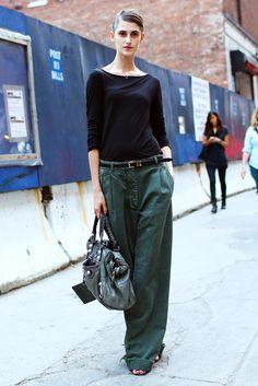Daiane Conterato, NYC. Balenciaga bag