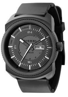 Shop for Diesel Men's Black Stainless Steel Case Black Poly Strap Watch. Get free delivery On EVERYTHING* Overstock - Your Online Watches Store! Black Stainless Steel, Stainless Steel Watch, Cool Watches, Watches For Men, Wrist Watches, Men's Watches, Timberland, Sporty Watch, Black Diesel
