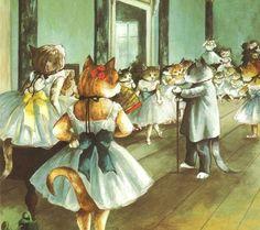 Susan Herbert, Classe de danse, (inspiré par Edgar Degas).