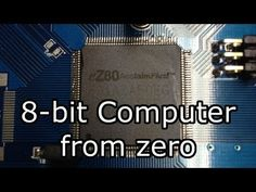 EightZero: Building an Computer From Zero Arduino Wireless, Electronics Projects, 8 Bit, Projects To Try, Technology, Retro, Digital, Building, Tecnologia