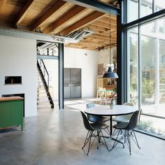 10 popular homes from Dezeen's Pinterest boards that reference their industrial past