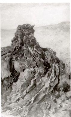 Leon Wyczolkowski. Petrified Idol. 1894(?), oil on canvas. 152x91 cm. National Museum of Art. Warsaw
