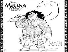 Image result for moana colouring pages