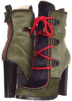 DSQUARED2 - W12J208022 Ankle Boot (Pony Dark Green Blue) - Footwear on  shopstyle f69f0cbc167