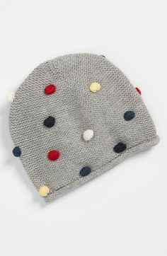 United Colors of Benetton Kids Pompom Hat (Infant) | Nordstrom