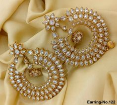 Rama Creations Manufacturer & Wholesalers of Imitation Fashion Jewellery in India. Indian Jewelry Earrings, Antique Earrings, Gold Hoop Earrings, Antique Jewelry, Jewelery, Jewelry Boards, Girls Jewelry, Fashion Jewellery, Bridal Looks