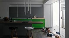 grüne Küche gestalten Farben Akzente