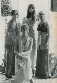 Fringe everywhere... Vogue,1969. What's old is new again!