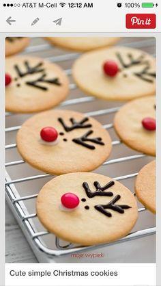 Reindeer sugar cookies.
